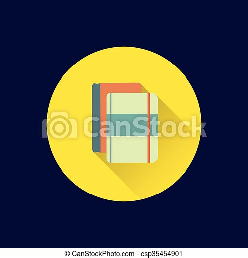 Flat books icon - csp35454901