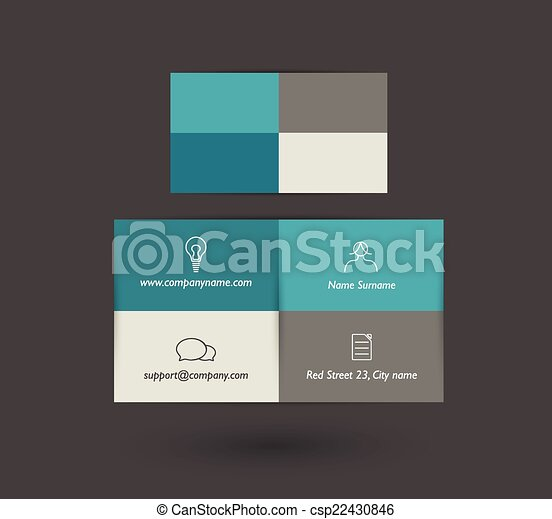 Flat business card design eps vector search clip art flat business card design csp22430846 reheart Choice Image