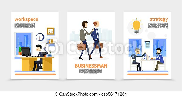 Flat Businessman Vertical Banners - csp56171284