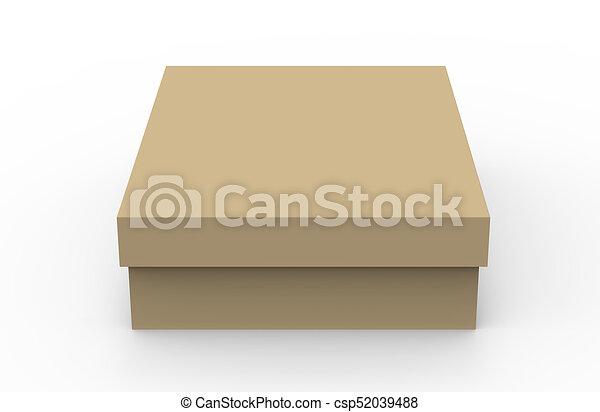 Flat Cardboard Box Mockup