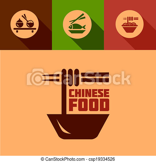 Flat Chinese Food Design Elements Chinese Food Design Elements In