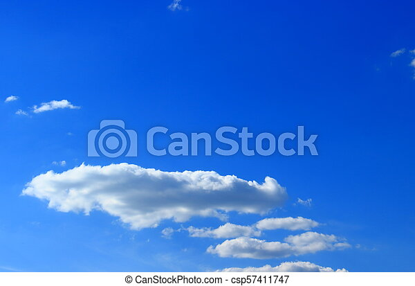 Flat clouds on sky - csp57411747