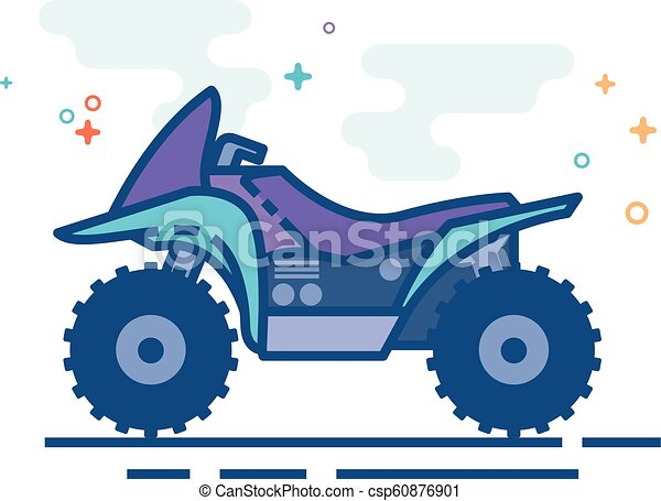 Flat Color Icon - All terrain vehicle - csp60876901