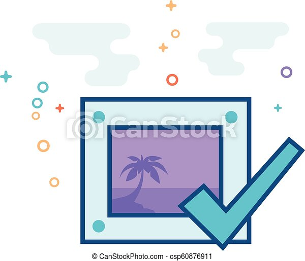 flat color icon printing approval printing approval icon in