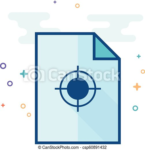 Flat Color Icon - Printing quality control - csp60891432