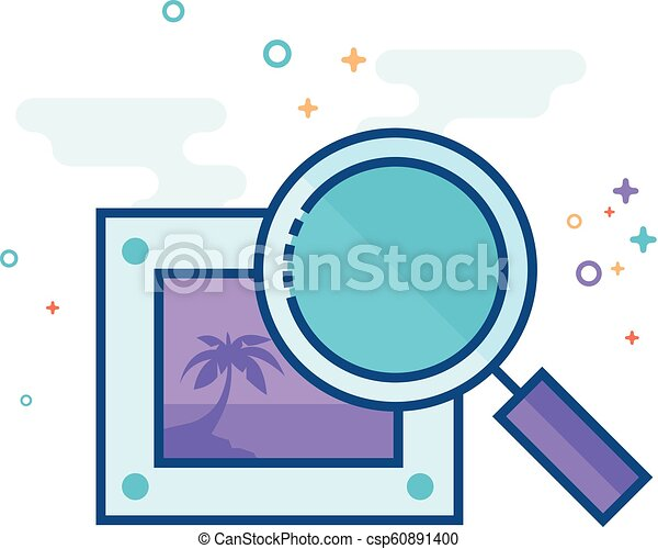 Flat Color Icon - Printing quality control - csp60891400