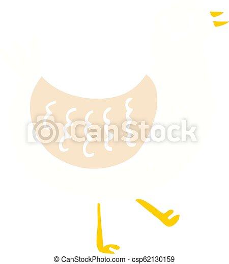 flat color illustration cartoon bird - csp62130159