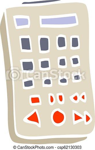 flat color illustration cartoon remote control - csp62130303