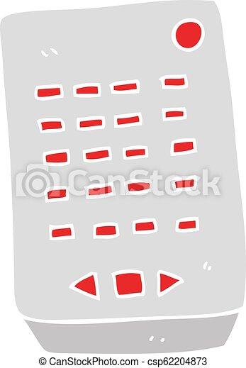 flat color illustration of a cartoon remote control - csp62204873
