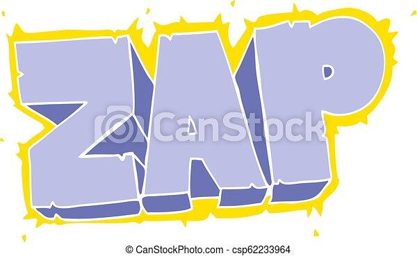 flat color illustration of a cartoon zap symbol - csp62233964
