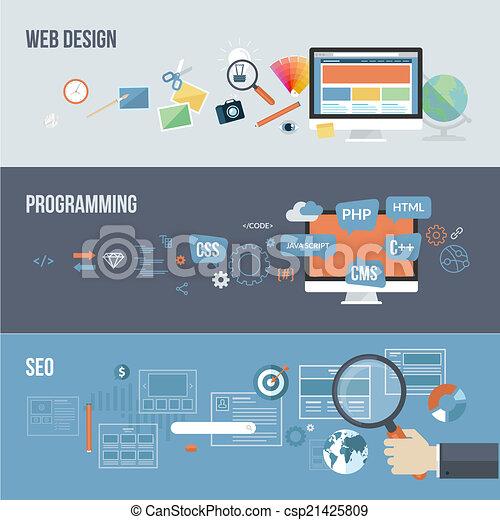 Flat concepts for web development - csp21425809