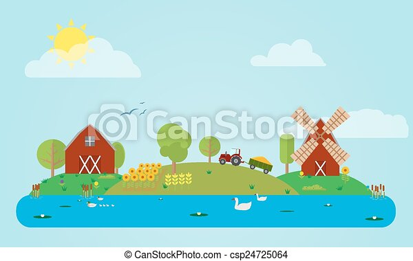 Flat Countryside - csp24725064