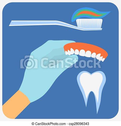 Flat dental instruments set - csp28096343