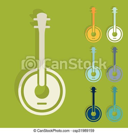Flat design: banjo - csp31989159