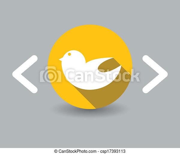 flat design bird icon - csp17393113