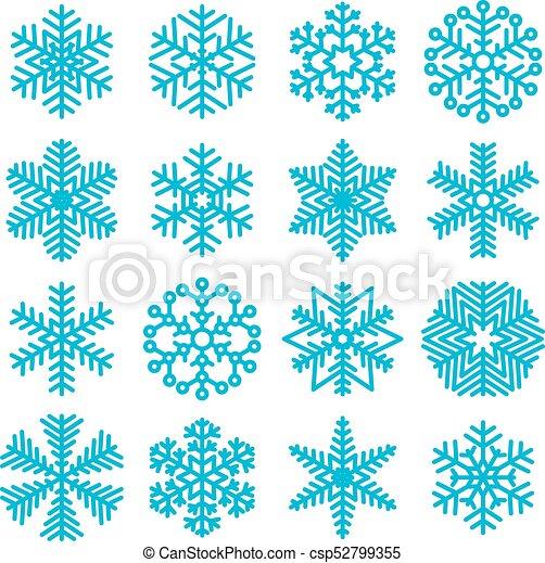 Christmas Snowflakes.Flat Design Christmas Snowflakes
