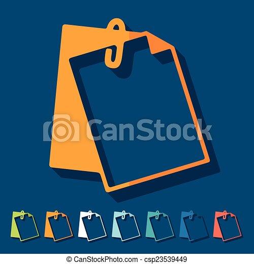 Flat design: clipboard - csp23539449