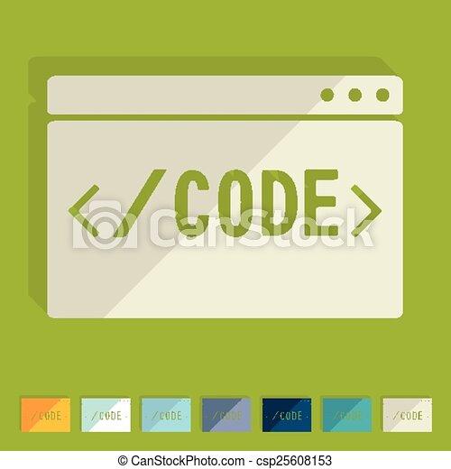 Flat design. coding - csp25608153