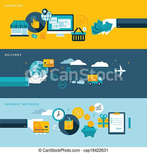 Flat design concepts for e-commerce - csp18422631