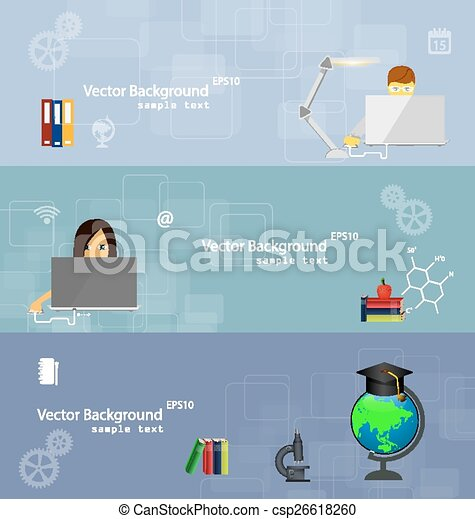 Flat design concepts of education. - csp26618260