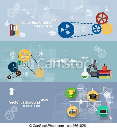 Flat design concepts of education. - csp26618261