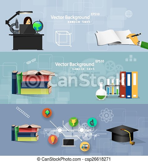 Flat design concepts of education. - csp26618271