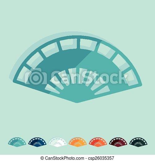 Flat design. folding fan - csp26035357