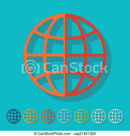 Flat design: globe - csp21451324