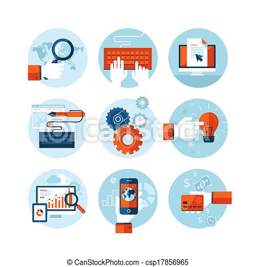 Flat design icons for web design - csp17856965