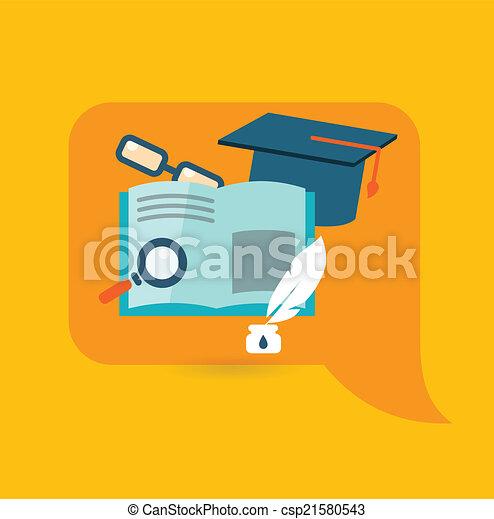 Flat design illustration concept for education - csp21580543