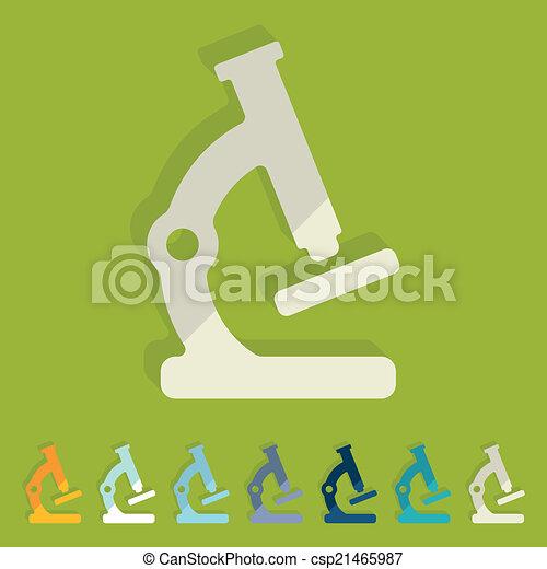 Flat design: microscope - csp21465987