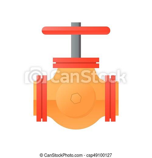 flat design natural gas pipeline icon - csp49100127