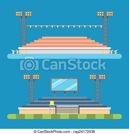 Flat design of sport stadium - csp24172536