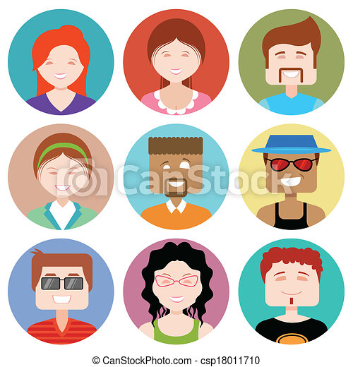 flat design people icon illustration of flat design people icon https www canstockphoto com flat design people icon 18011710 html