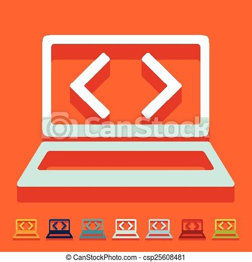 Flat design. programming - csp25608481