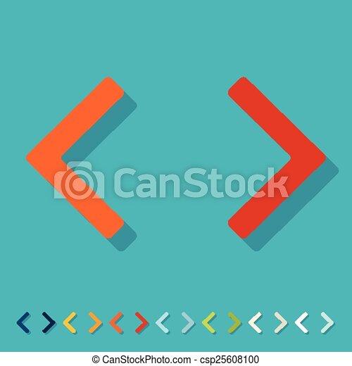 Flat design. programming - csp25608100