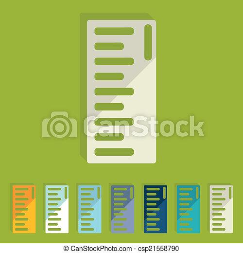Flat design: ruler - csp21558790