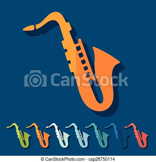 Flat design: saxophone - csp28750114
