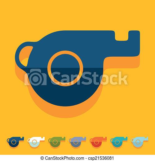 Flat design: whistle - csp21536081