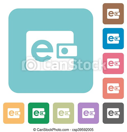 Flat e-wallet icons - csp39592005