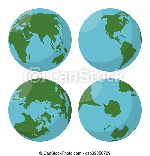 World Map Vector Icon. Simple Flat Design Stock Vector ...   Earth Flat Icon Eps