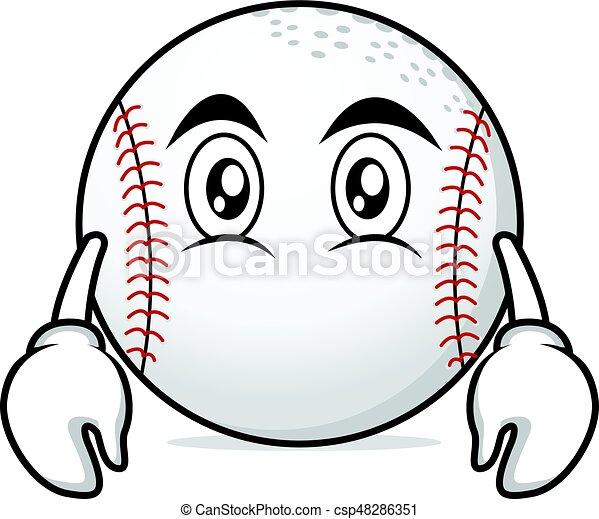 Flat face baseball character cartoon - csp48286351
