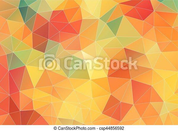 Flat Geometric Triangle Wallpaper