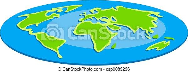 Flat Globe - csp0083236