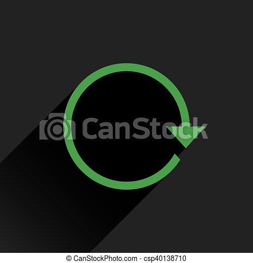 Flat green arrow icon refresh, rotation sign - csp40138710