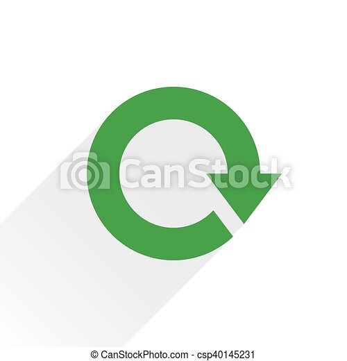 Flat green arrow icon reload, refresh sign - csp40145231
