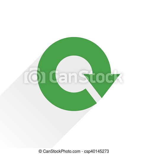 Flat green arrow icon reload, repeat sign - csp40145273