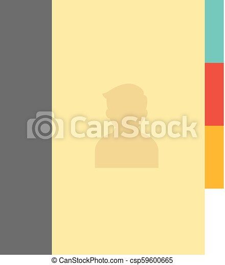flat icon address book address book icon in flat color style