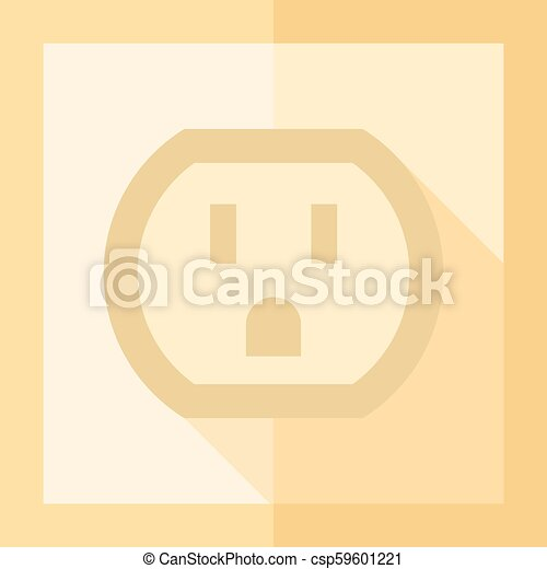 Flat Icon Electrical Outlet Electrical Outlet Icon In Flat Color