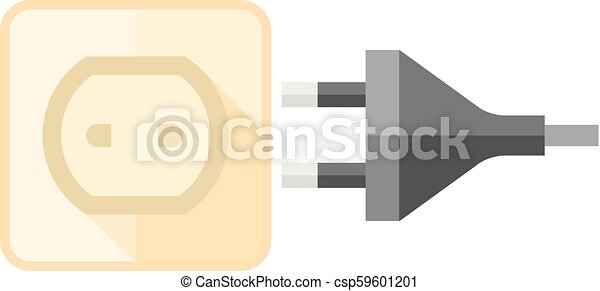 Flat icon - electrical outlet. Electrical outlet icon in flat color ...